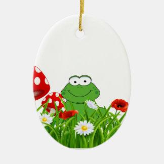 Frosch Keramik Ornament