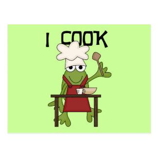 Frosch-Koch koche ich T-Shirts und Geschenke Postkarte