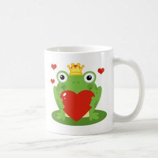 Frosch-König mit Herzen Kaffeetasse