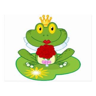 Frosch-Königin Postkarte