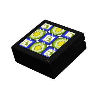 Frosch kopiert blaue quadratische Diamanten Erinnerungskiste