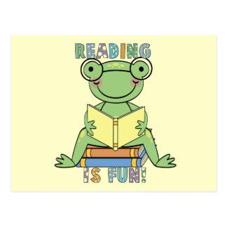 Frosch - Lesung ist Spaß-T-Shirts und Geschenke Postkarte