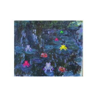Frosch-Lilien-Auflage Monet Leinwanddruck