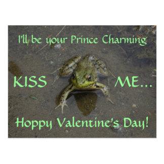 Frosch-Märchenprinz-Valentinsgruß Postkarte