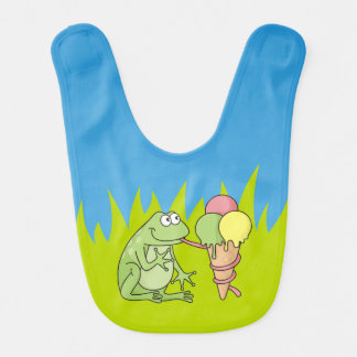 Frosch mit Eiscreme Babylätzchen