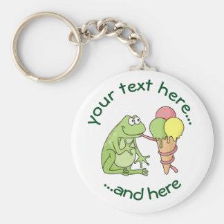 Frosch mit Eiscreme Schlüsselanhänger
