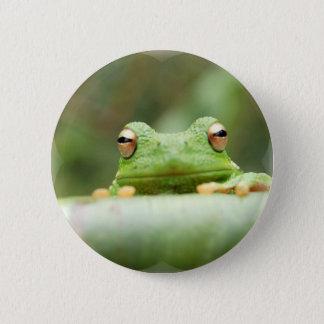 Frosch mustert Knopf Runder Button 5,7 Cm