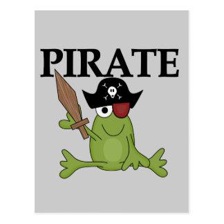Frosch-Pirat mit Klinge-T-Shirts und Geschenken Postkarte