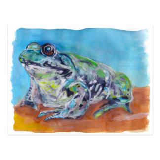 Frosch Postkarte