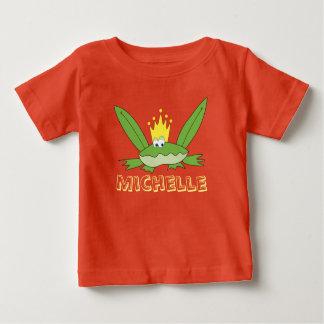 Frosch-Prinz Cute Funny Green Cartoon Baby T-shirt