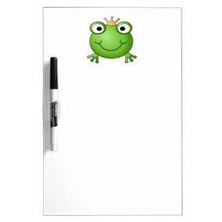 Frosch-Prinz. Glücklicher Frosch Memo Board