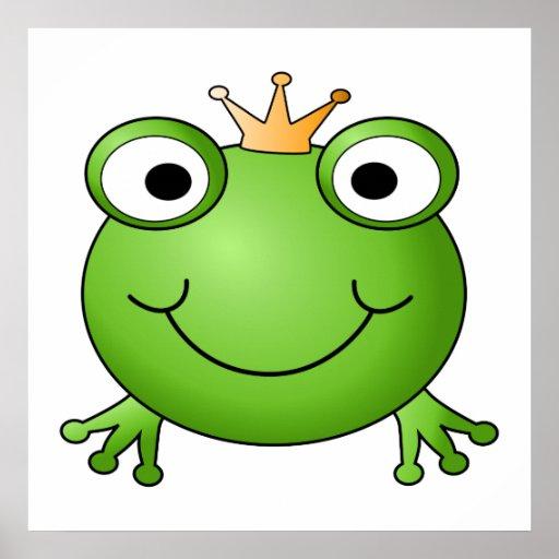 Frosch-Prinz. Glücklicher Frosch Poster