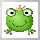 Frosch-Prinz. Glücklicher Frosch Posterdruck