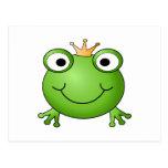 Frosch-Prinz. Glücklicher Frosch Postkarten