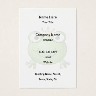 Frosch-Prinz. Glücklicher Frosch Visitenkarte