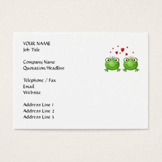 Frosch-Prinz und Frosch-Prinzessin, mit Herzen Visitenkarte