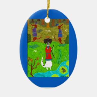 Frosch-Prinzessin Keramik Ornament