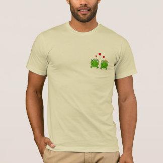 Frosch-Prinzessin und Frosch-Prinz, mit Herzen T-Shirt