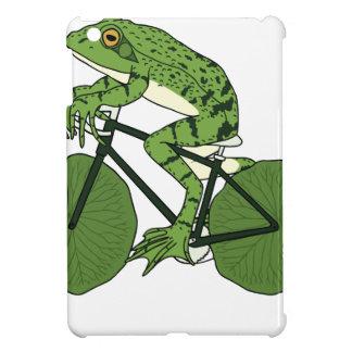 Frosch-Reitfahrrad mit Lilien-Auflage-Rädern iPad Mini Hülle