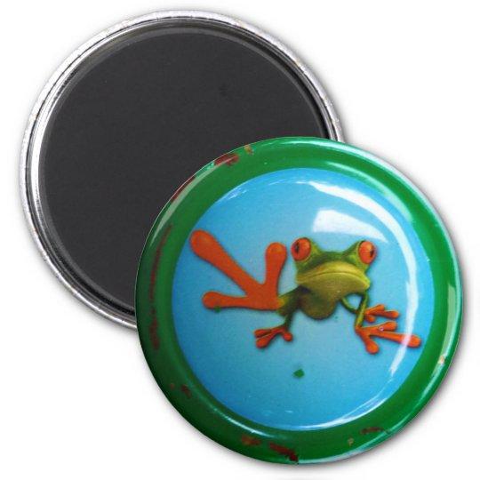 Frosch Runder Magnet 5,1 Cm