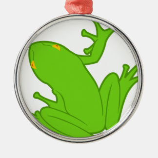 Frosch Silbernes Ornament
