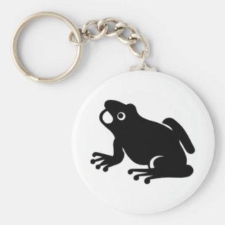 Frosch-Silhouette Schlüsselanhänger