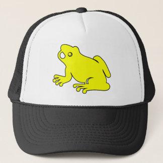 Frosch-Silhouettefroggy-Sprungs-Amphibien-Hopfen Truckerkappe