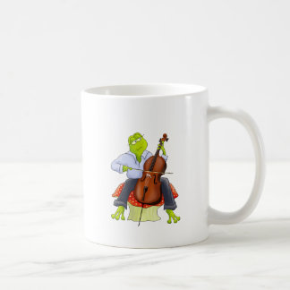 Frosch spielt Cello Tassen