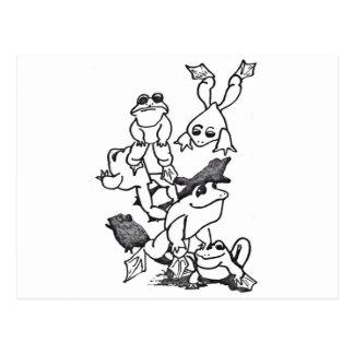 Frosch-Springen Postkarte