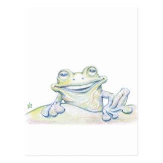 Frosch-Strudel Postkarte