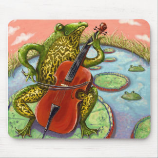 Frosch und Cello Mousepads