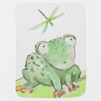 Frosch- und Libellendecke Babydecke