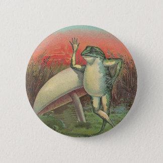 Frosch und Pilz Runder Button 5,1 Cm