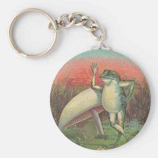 Frosch und Pilz Schlüsselanhänger
