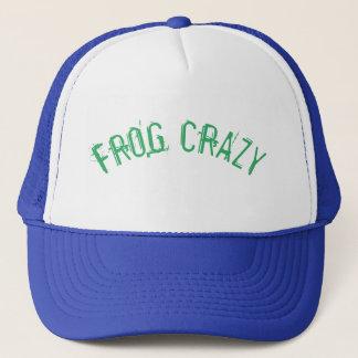 Frosch-verrückter Hut! Truckerkappe