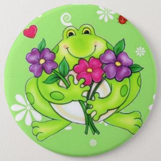 Frosch-Waren-Geschenke Runder Button 15,3 Cm