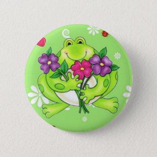 Frosch-Waren-Geschenke Runder Button 5,1 Cm