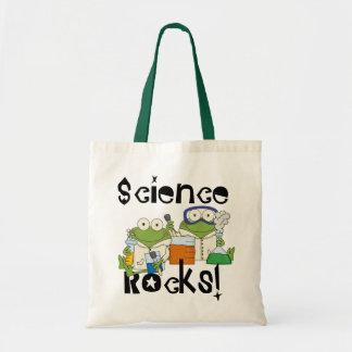 Frosch-Wissenschafts-Felsen Budget Stoffbeutel