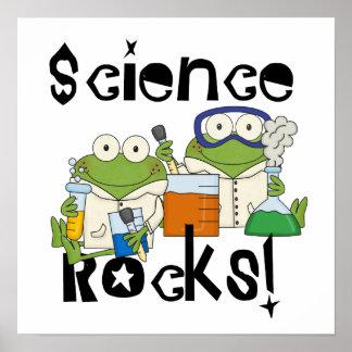 Frosch-Wissenschafts-Felsen Poster