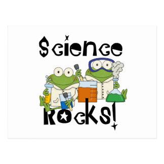 Frosch-Wissenschafts-Felsen Postkarte