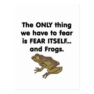 Frösche 1 der Furcht-selbst Postkarte