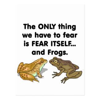 Frösche 2 der Furcht-selbst Postkarte