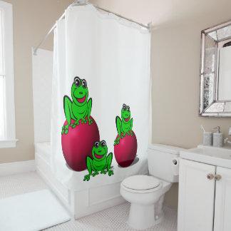 Frösche Duschvorhang