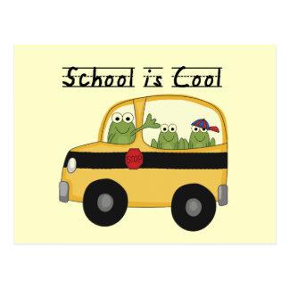 Frösche schulen ist coole T - Shirts und Geschenke Postkarte