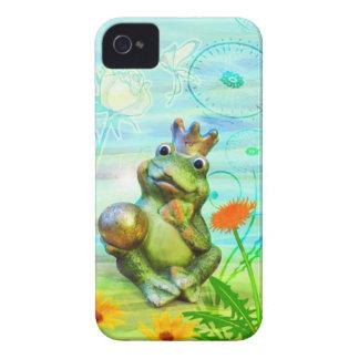 Froschkönig mit Blumen iPhone Hülle iPhone 4 Hülle