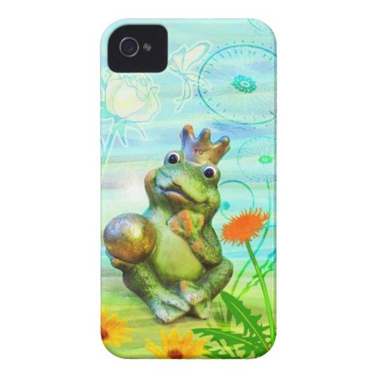 Froschkönig mit Blumen iPhone Hülle