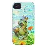 Froschkönig mit Blumen iPhone Hülle iPhone 4 Case-Mate Hülle