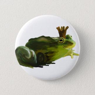 Froschkönig Runder Button 5,7 Cm