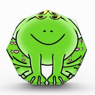 Froschkunstinspirations-Grünentwurf Acryl Auszeichnung