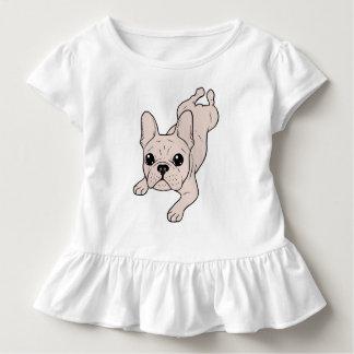 Froschschenkel-Creme-französische Bulldogge Kleinkind T-shirt